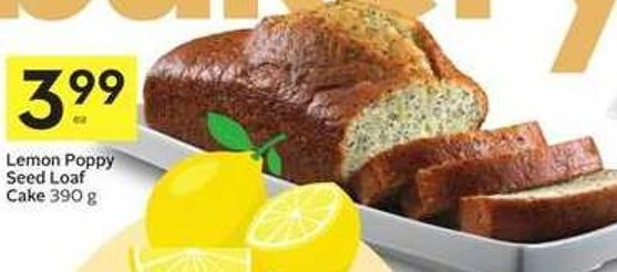 Lemon Poppy Seed Loaf Cake 390 g