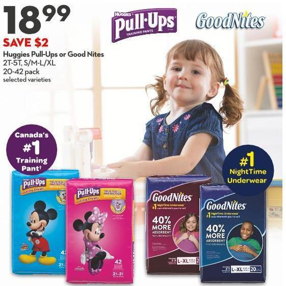 Huggies Pull-ups or Good Nites 2t-5t - S/m-l/xl 20-42 Pack