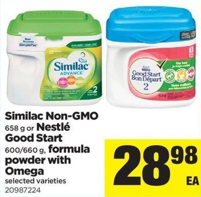 Similac Non- Gmo 658 G Or Nestlé Good Start 600/660 G - Formula Powder With Omega
