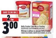 Betty Crocker Cake Mix Or Frosting | Mélange À Gâteau Ou Glaçage Betty Crocker
