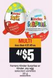 Ferrero Kinder Surprise Or Kinder Joy Egg
