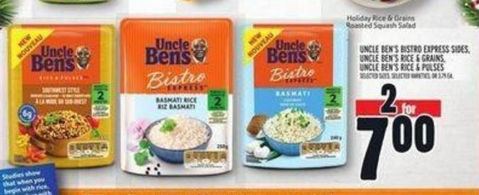 Uncle Ben's Bistro Express Sides - Uncle Ben's Rice & Grains - Uncle Ben's Rice & Pulses