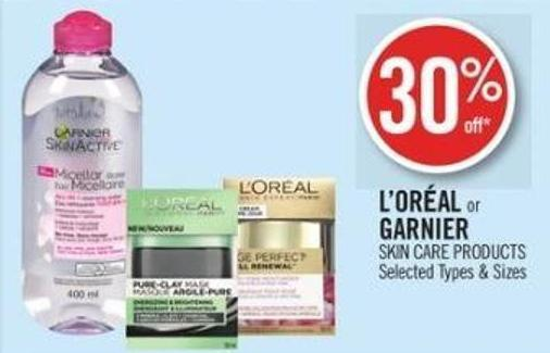 L'oréal or Garnier Skin Care Products