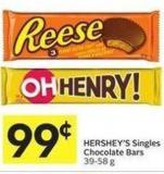 Hershey's Singles Chocolate Bars 39 - 58 g