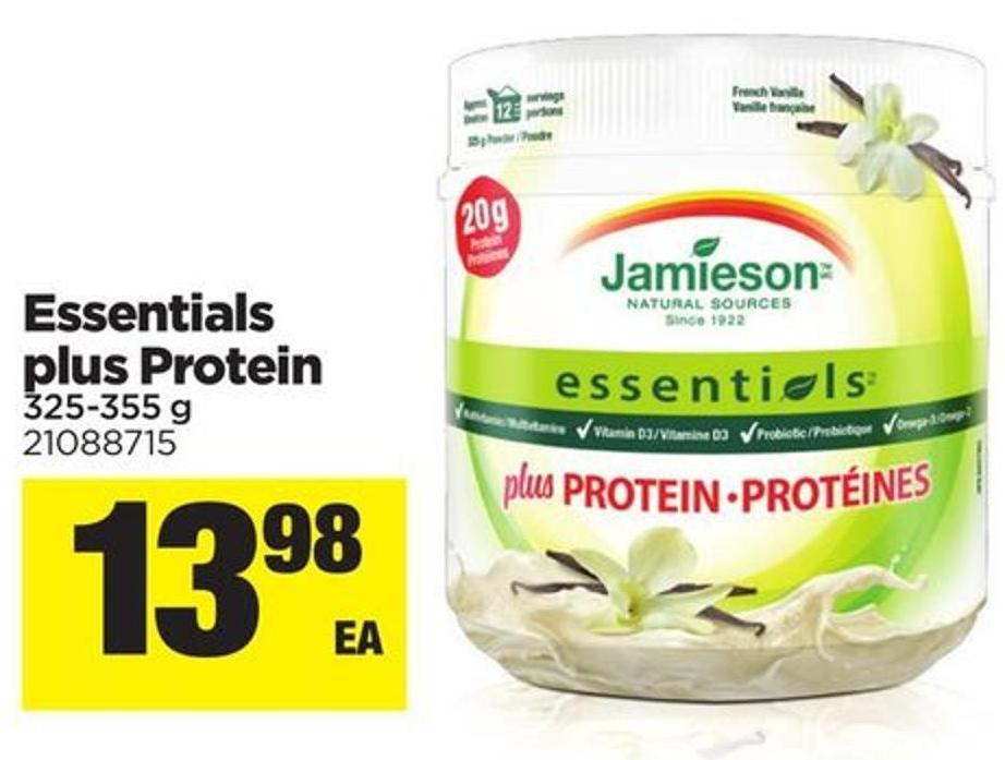 Essentials Plus Protein - 325-355 g
