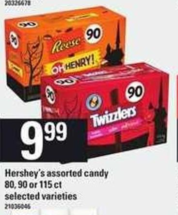 Hershey's Assorted Candy - 80 - 90 Or 115 Ct