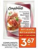 Compliments Sliced Deli Meats Selected 175 g