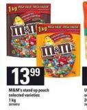 M&m's Stand Up Pouch - 1 Kg