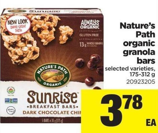 Nature's Path Organic Granola Bars - 175-312 g