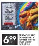 Sensations By Compliments Taquitos or Food Truck Sprolls