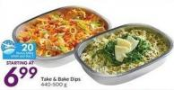 Take & Bake Dips 440-500 g - 20 Air Miles Bonus Miles