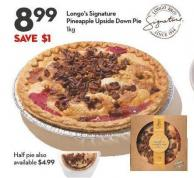 Longo's Signature  Pineapple Upside Down Pie 1kg
