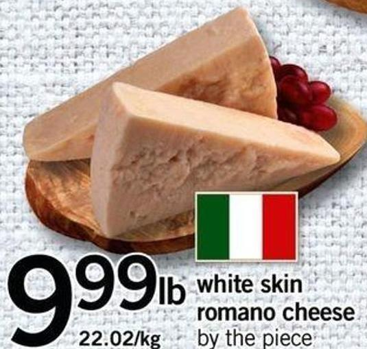 White Skin Romano Cheese