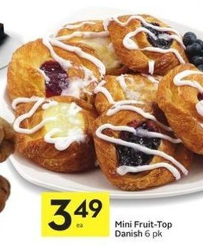 Mini Fruit-top Danish