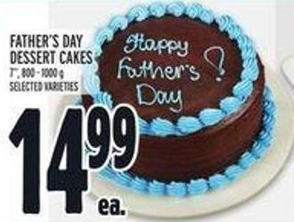 Father's Day Dessert Cakes