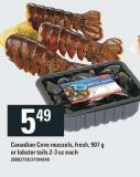Canadian Cove Mussels - 907 g Or Lobster Tails 2-3 Oz
