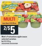 Mott's Fruitsations Apple Sauce - 6x111/113 g