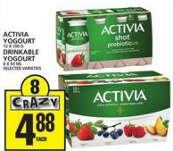 Activia Yogourt Or Drinkable Yogourt