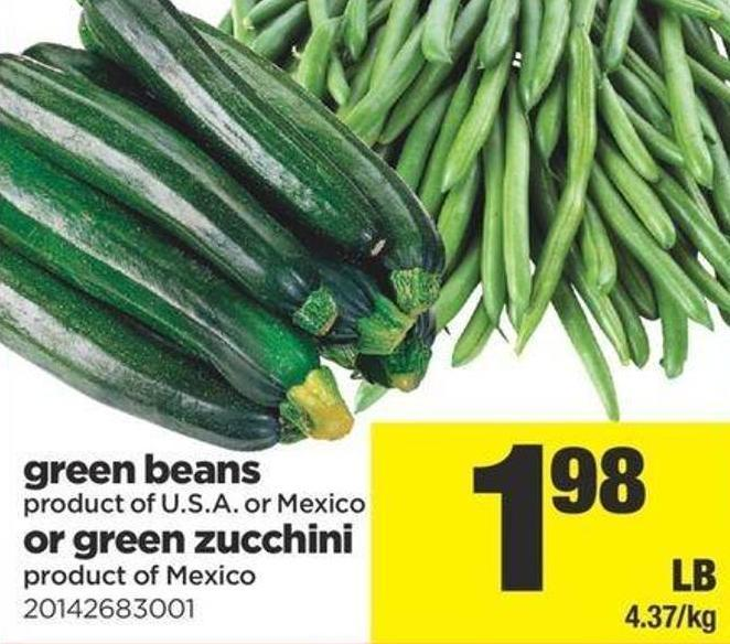Green Beans Or Green Zucchini
