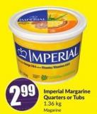 Imperial Margarine Quarters or Tubs 1.36 Kg