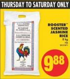 Rooster Scented Jasmine Rice - 8 Kg