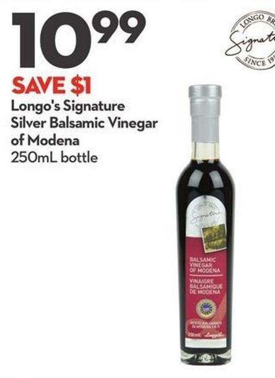 Longo's Signature Silver Balsamic Vinegar of Modena