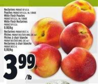 Nectarines - Peaches - White Flesh Peaches Or White Flesh Nectarines