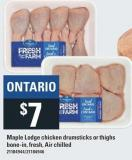Maple Lodge Chicken Drumsticks Or Thighs Bone-in - Fresh - Air Chilled