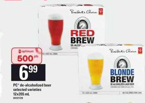 PC De- Alcoholized Beer - 12x355 Ml