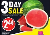 Seedless Watermelon Product of Ontario 11 Lb Average