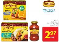 Old El Paso Hard & Soft Taco Dinner Kit - Medium Salsa - Stand N' Stuff Taco Shells or Fajita Dinner Kit