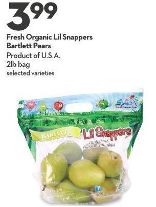 Fresh Organic Lil Snappers  Bartlett Pears