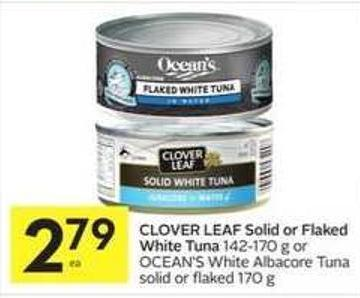 Clover Leaf Solid or Flaked White Tuna