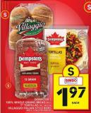 Dempster's 100% Whole Grains Bread or 7in Tortillas or Villaggio Italian Style Buns