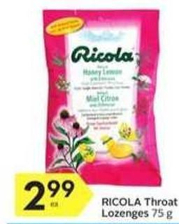 Ricola Throat Lozenges