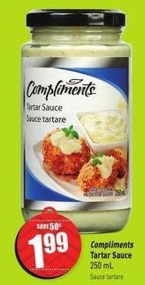 Compliments Tartar Sauce - 250 mL