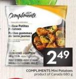 Compliments Mini Potatoes Product of Canada 680 g