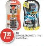 Bic Disposable Razors 2's - 10's