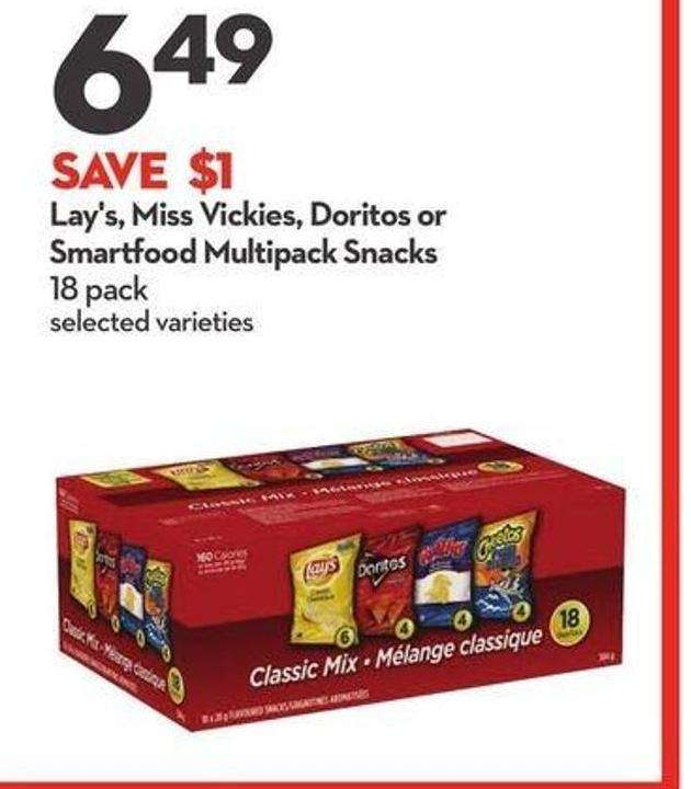 Lay's - Miss Vickies - Doritos or Smartfood Multipack Snacks
