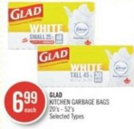 Glad Kitchen Garbage Bags 20's - 52's