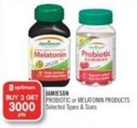 Jamieson Probiotic or Melatonin Products