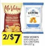 Miss Vickie's 200-220 g or Gh. Cretors 184-227 g