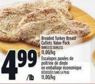 Breaded Turkey Breast Cutlets Value Pack
