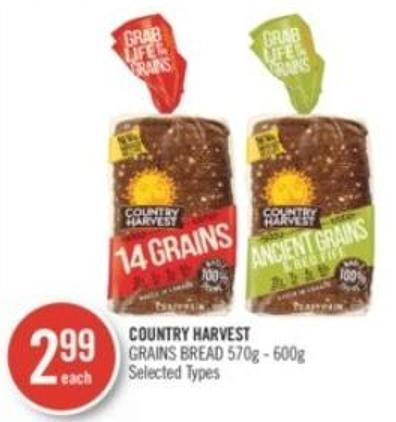 Country Harvest Grains Bread 570g - 600g