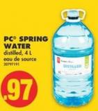 PC Spring Water - 4 L