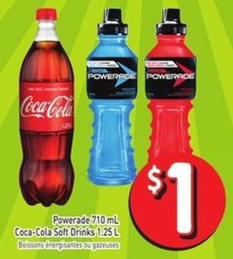 Powerade 710 mL Coca-cola Soft Drinks 1.25 L