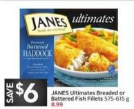 Janes Ultimates Breaded or Battered Fish Fillets