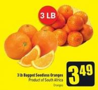 3 Lb Bagged Seedless Oranges Product of South Africa Oranges