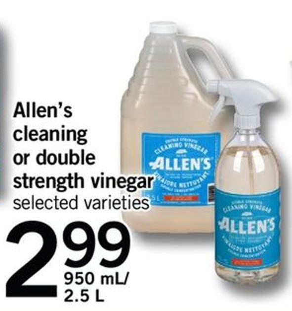 Allen's Cleaning Or Double Strength Vinegar - 950 Ml/2.5 L