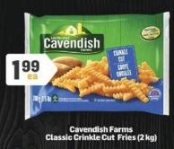 Cavendish Farms Classic Crinkle Cut Fries - 2 Kg
